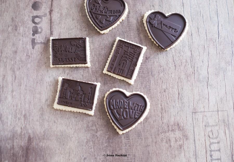 biscuiti de ovaz cu glazura de ciocolata