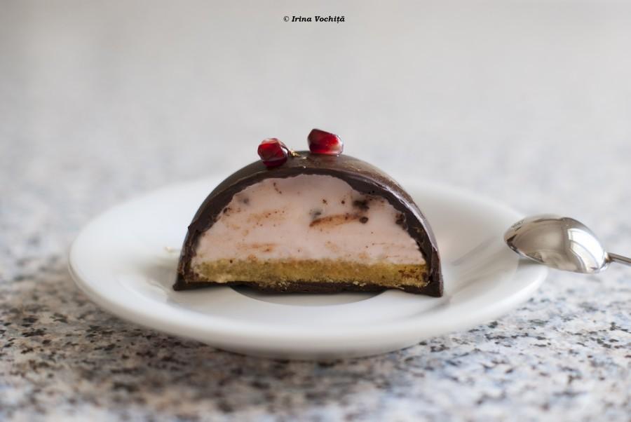 prajitura cu mousse de capsuni si ciocolata
