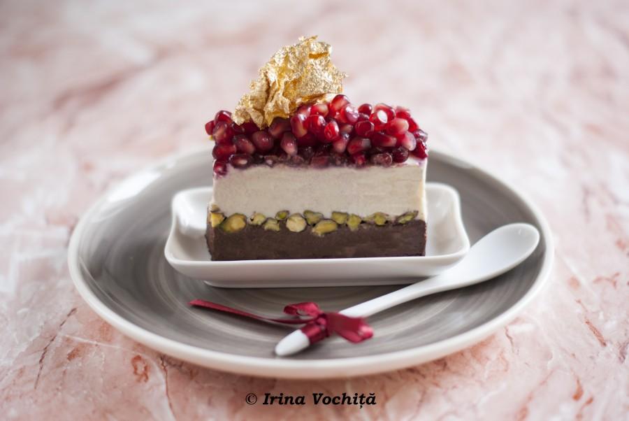 tort cu ciocolata si fistic