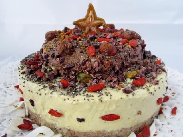 Cheesecake raw vegan de sărbătoare