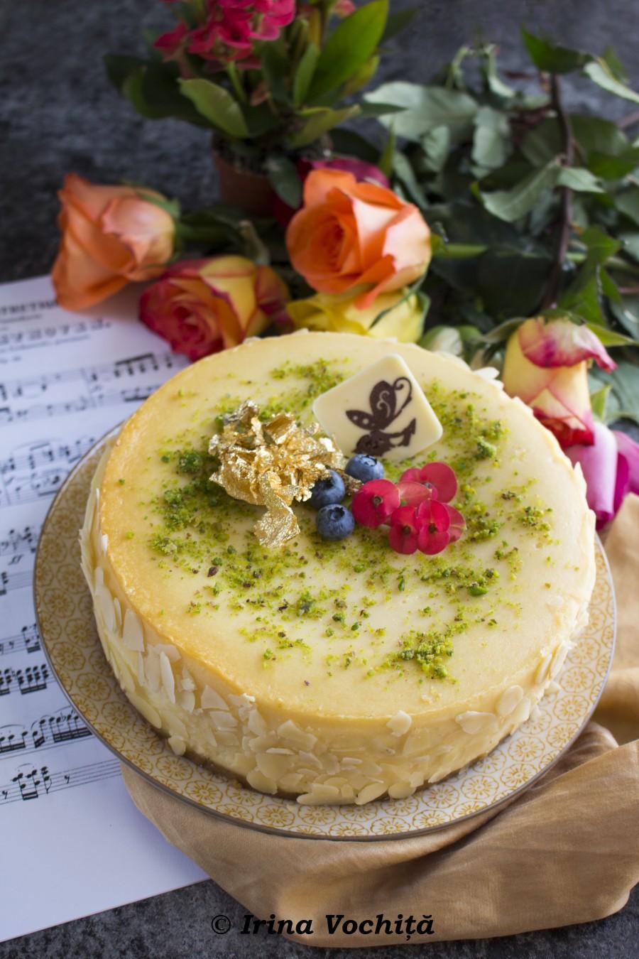cheesecake muzical cu flori sportychoco