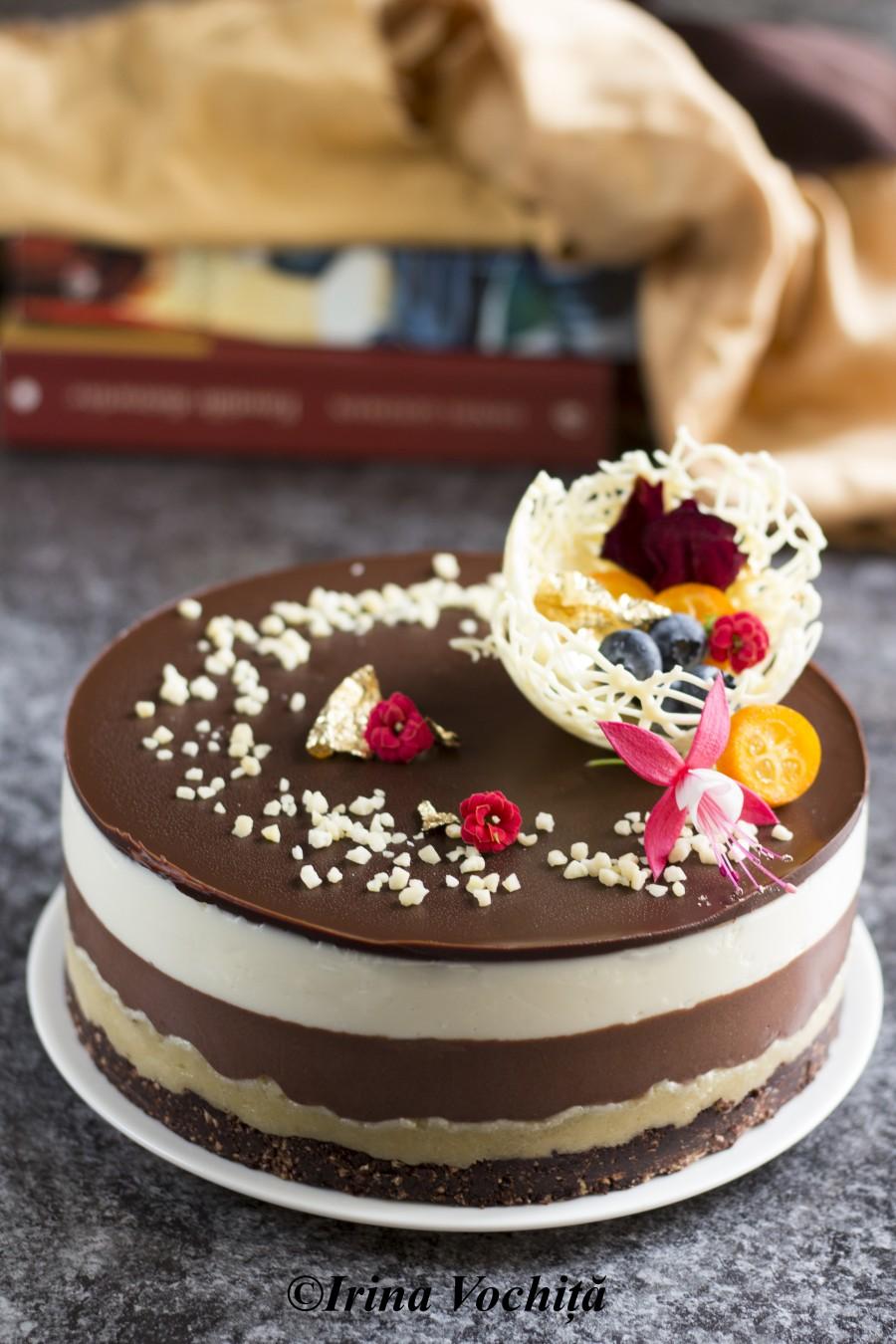 tort cu ciocolata si martipan