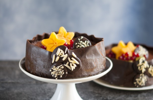 tort raw vegan cu ciocolata